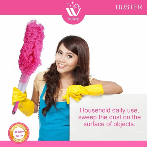 W Home Microfiber Duster, Flexible and Washable, Hand Dusters for Household Cleaning Perspective: bottom