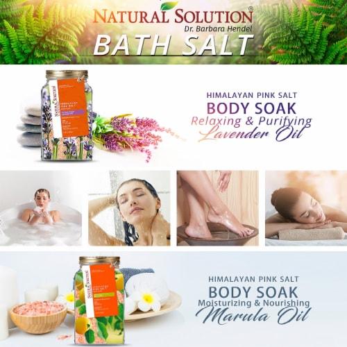Natural Solution Bath Salt, Blood Orange & Lavender Oil Body Soak   2 Packs – 3 lbs Each Perspective: bottom