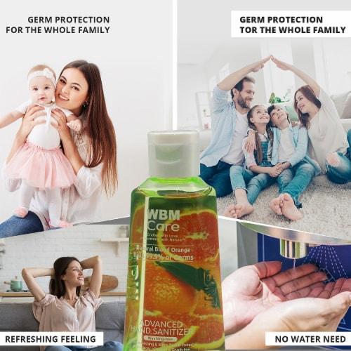 WBM Care Advanced Hand Sanitizer, Alcohol-Based, Blood Orange – Pack of 48/3.5 Oz Each Perspective: bottom