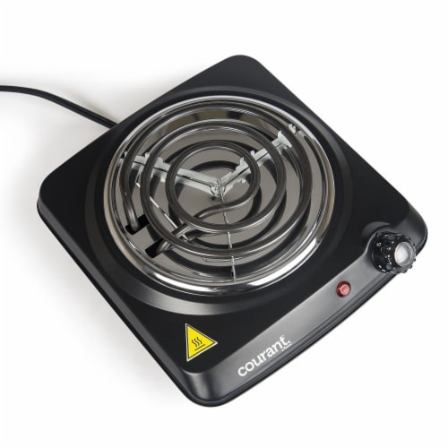 1000 Watts Electric Single Burner, Black Perspective: bottom