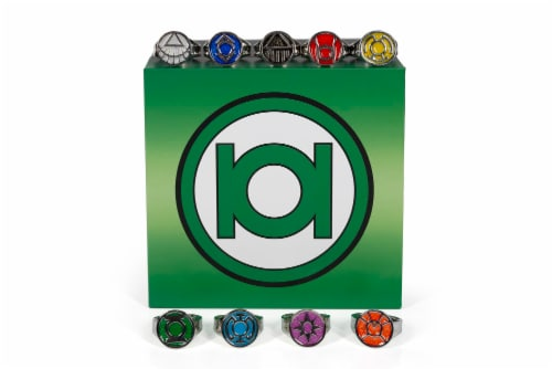 DC Comics Green Lantern Power Rings Emotional Spectrum Power Rings | 9 Ring Set Perspective: bottom