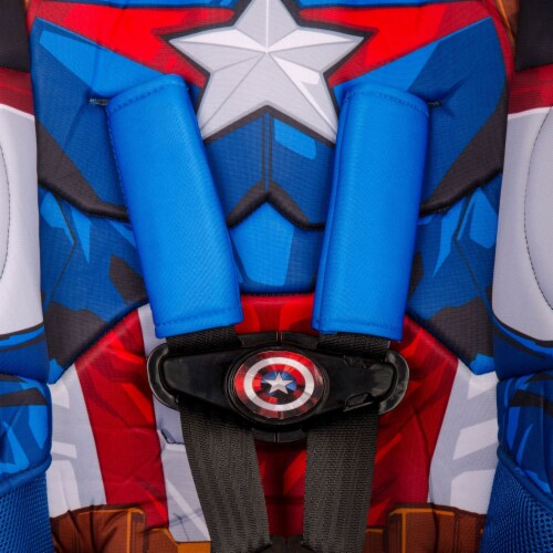 KidsEmbrace Marvel Avengers Captain America Combination Harness Booster Car Seat Perspective: bottom