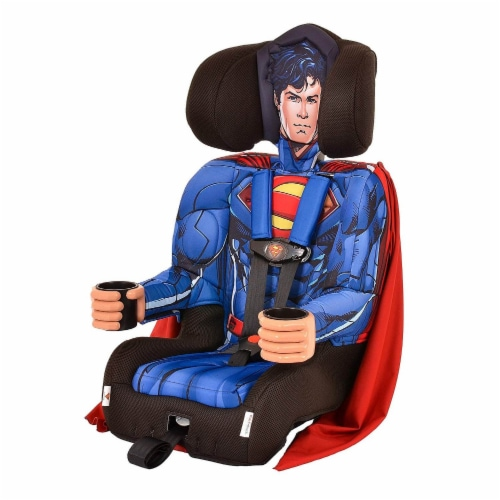 Kids Embrace DC Comics Superman Combination Harness Booster Car Seat with Cape Perspective: bottom