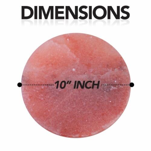 Natural Himalayan Pink Salt Round Shape Cooking Block Tile For Grilling Perspective: bottom