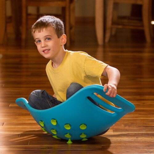 Fat Brain Toys Teeter Popper Balance Board - Blue Perspective: bottom