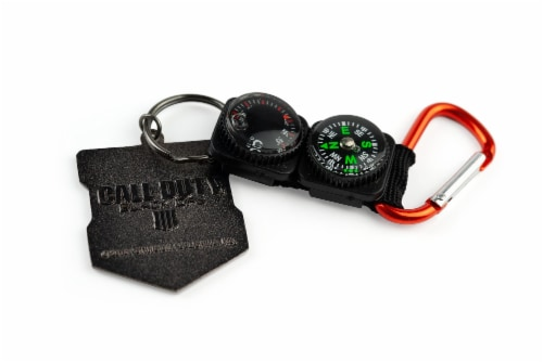 Call of Duty: Black Ops 4 Logo & Keychain Compass Set | Includes Thermometer Perspective: bottom