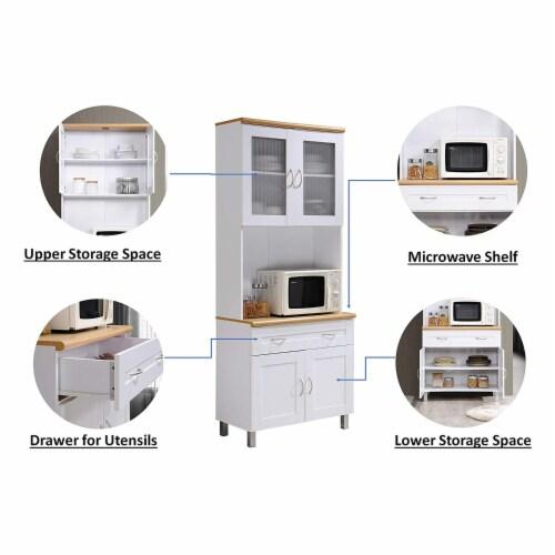 Kitchen Cabinet in White - Hodedah Perspective: bottom
