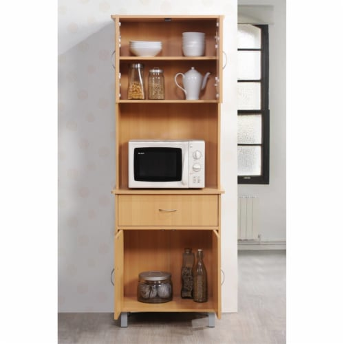 Kitchen Cabinet in Beech Brown - Hodedah Perspective: bottom