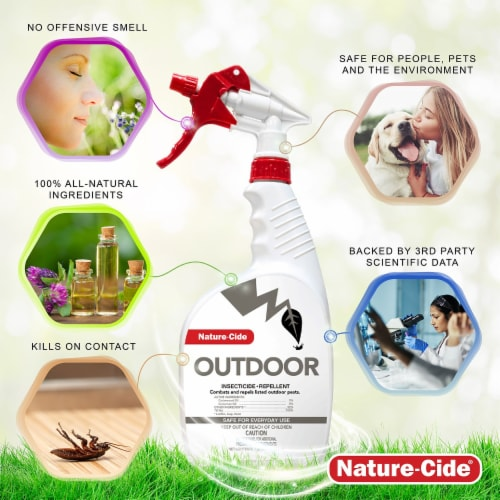 Nature-Cide Outdoor Insecticide & Repellent - Natural Roach, Spider, Mosquito, Ant Spray Perspective: bottom