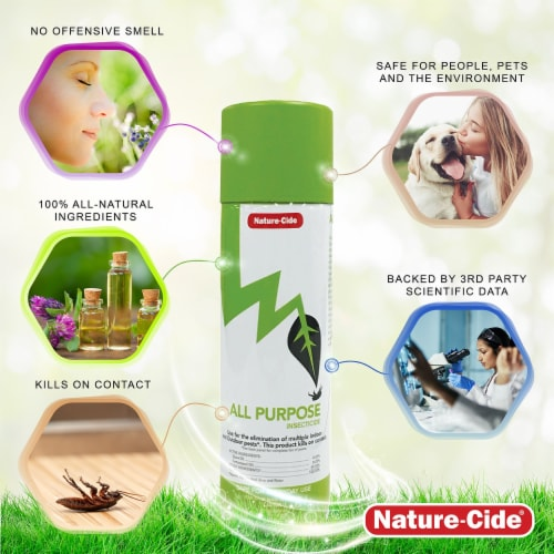 Nature-Cide All-Purpose Aerosol Can Insecticide - Natural Roach, Spider, Mosquito, Ant Spray Perspective: bottom