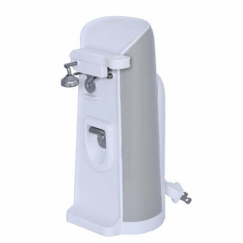 Brentwood Electric Can Opener with Knife Sharpener and Bottle Opener - White Perspective: bottom