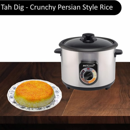 Brentwood TS-1020S 700W 20 Cup Persian Style Crunchy Tahdig Scorched Rice Cooker Perspective: bottom
