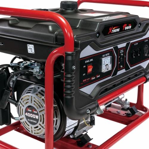 4000 Watt Gas Generator Emergency Lifan Engine Power Camp Tailgate Perspective: bottom