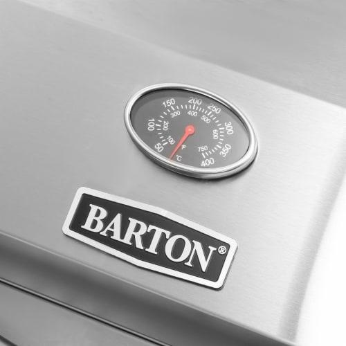 Barton Dual-Burner Tabletop Grill Propane Gas Grill with Foldable Leg 20,000 BTU Perspective: bottom