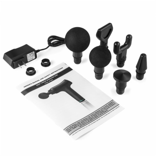 6 Speed Percussion Deep Tissue Massage Gun Vibration Muscle Body Therapy Perspective: bottom