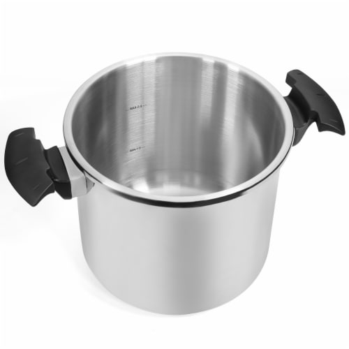 10 Quart Easy-Lock Lid Stovetop Pressure Cooker Induction Compatible Perspective: bottom