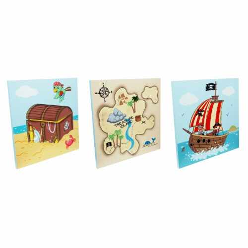 Fantasy Fields Childrens Pirate Canvas Wall Art Plaques Kids Bedroom TD-11633A Perspective: bottom
