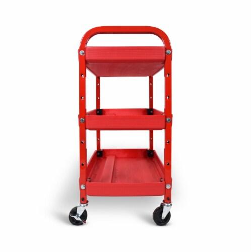 Luxor - Adjustable Utility Cart - Three Shelves Perspective: bottom