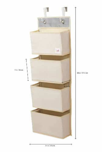 3 Sprouts Hanging Wall Organizer- Storage for Nursery and Changing Tables, Giraffe Perspective: bottom