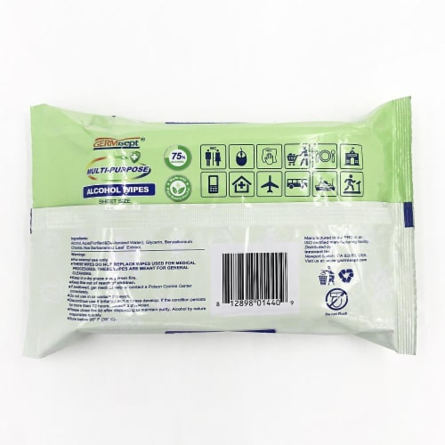 Germisept Multi-Purpose Alcohol Wipes Perspective: bottom