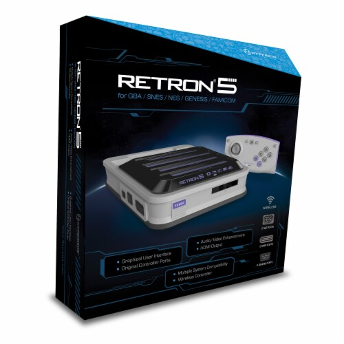 Hyperkin RetroN 5 HD Gaming Console - Grey Perspective: bottom