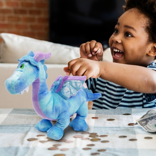 Linzy Toys Dragon Coin Bank - Blue Perspective: bottom