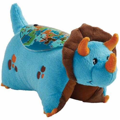 Pillow Pets Dinosaur Sleeptime Lite Plush Toy - Blue Perspective: bottom