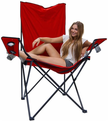 Creative Outdoor Giant Kingpin Folding Chair - Red Perspective: bottom
