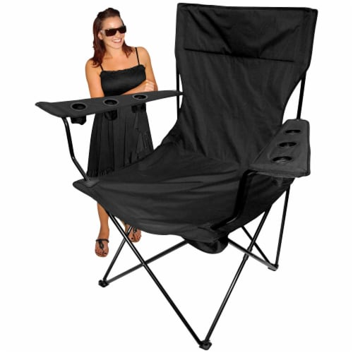Creative Outdoor Giant Kingpin Folding Chair - Black Perspective: bottom
