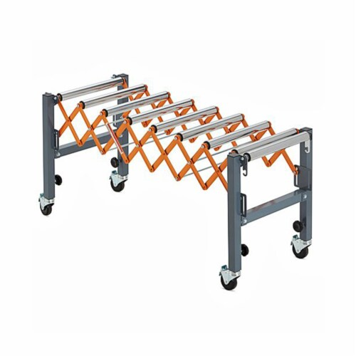 Bora Tool Conveyor Roller with Locking Casters and Adjustable Height and Length Perspective: bottom