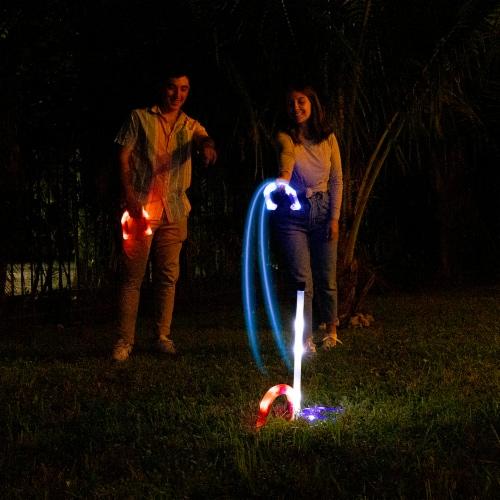 PoolCandy YardCandy Illuminated LED Horseshoes Perspective: bottom