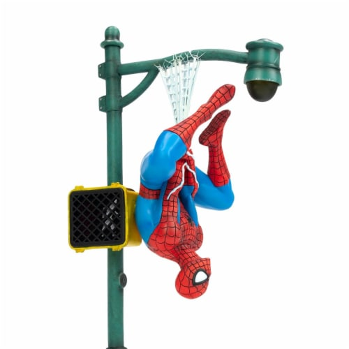"Marvel Spider-Man Collector Statue | Interactive Spider-Man Figure | 14"" Tall Perspective: bottom"