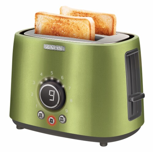 Sencor 2-Slot Toaster with Digital Button and Rack - Light Green Perspective: bottom