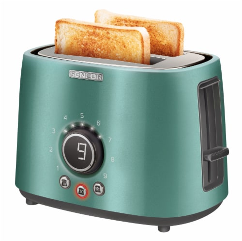 Sencor 2-Slot Toaster with Digital Button and Rack - Green Perspective: bottom