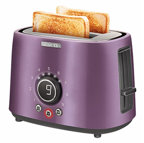 Sencor 2-Slot Toaster with Digital Button and Rack - Violet Perspective: bottom