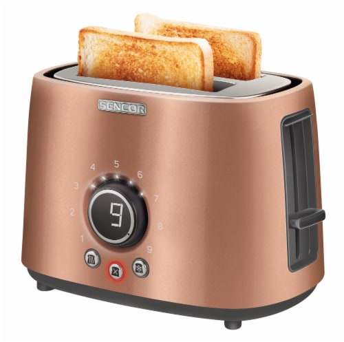 Sencor 2-Slot Toaster with Digital Button and Rack - Gold Perspective: bottom