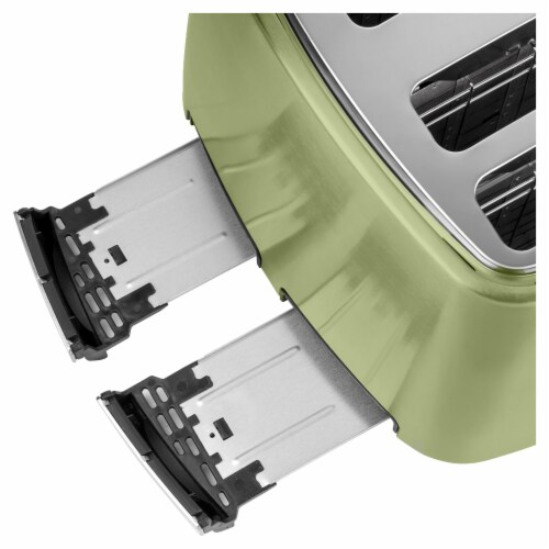 Sencor 4-Slot Toaster with Digital Button and Rack - Light Green Perspective: bottom