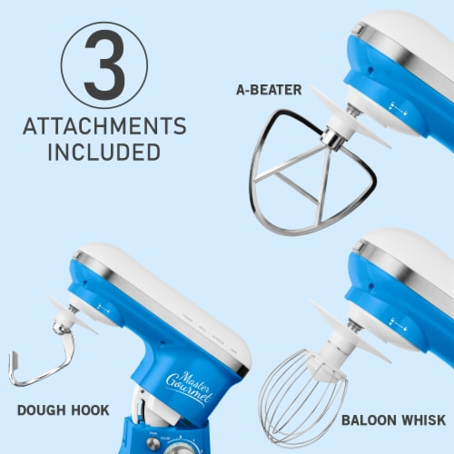 Sencor Stand Mixer with Pouring Shield - Blue Perspective: bottom