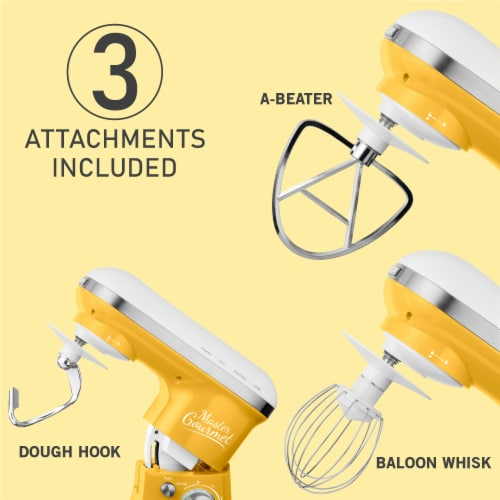 Sencor Stand Mixer with Pouring Shield - Yellow Perspective: bottom