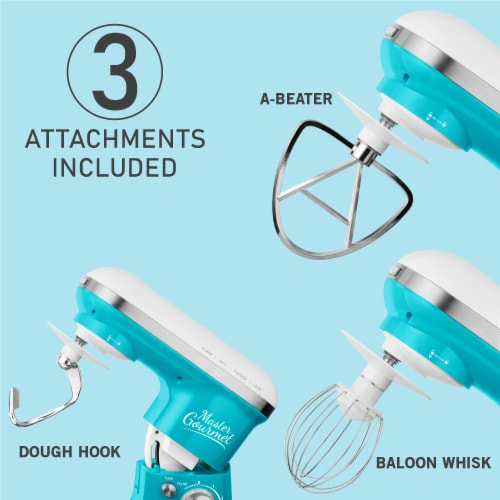 Sencor Stand Mixer with Pouring Shield - Turquoise Perspective: bottom