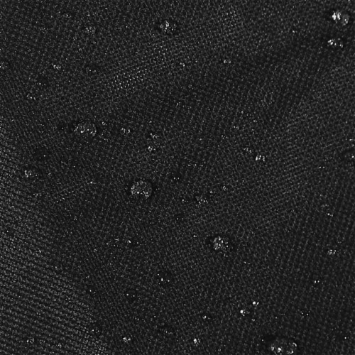 Sunnydaze Log Rack Cover Black Outdoor Waterproof Weather-Resistant PVC - 6' Perspective: bottom