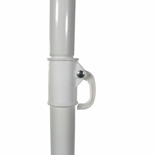 Sunnydaze Beach Umbrella w/ Tilt Function Shaded Comfort - Steel - Red - 5' Perspective: bottom