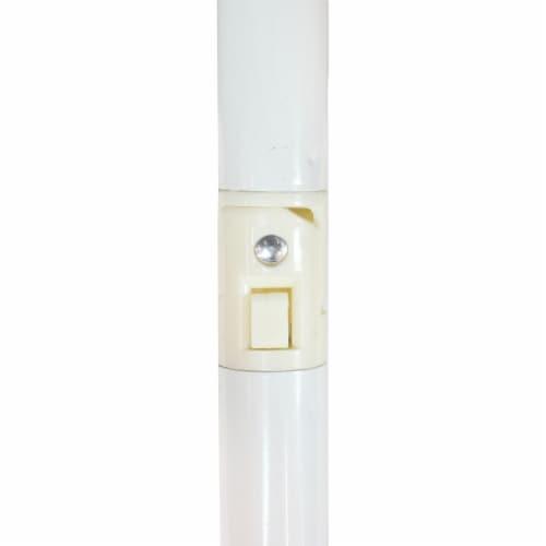 Sunnydaze Beach Umbrella w/ Tilt Function & Shaded Comfort - Gray - 5' Perspective: bottom