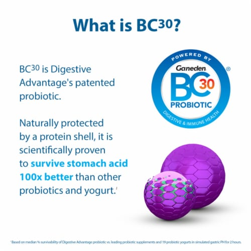 Digestive Advantage Lactose Defense Formula Probiotic Digestive & Immune Health Capsules Perspective: bottom