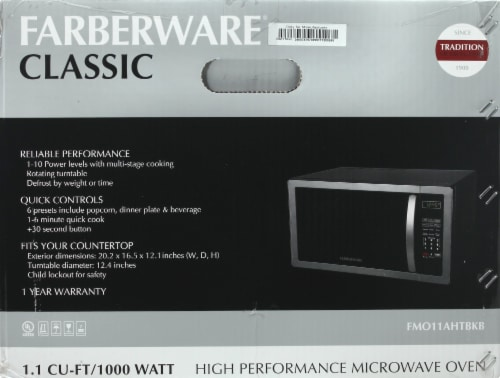 Farberware Classic 1000-Watt High Performance Microwave Oven - Stainless Steel Perspective: bottom