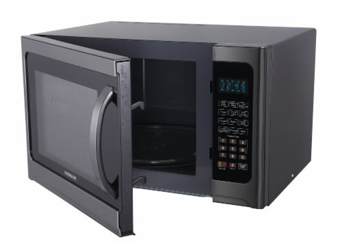 Farberware 1100-Watt Microwave Oven with Grill - Black / Stainless Steel Perspective: bottom