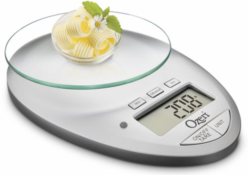 Ozeri Pro II Digital Kitchen Scale with Removable Glass Platform and Kitchen Timer Perspective: bottom