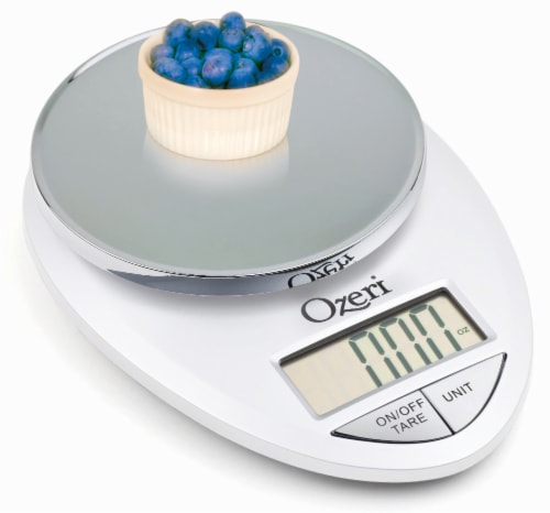 Ozeri Pro Digital Kitchen Food Scale, 0.05 oz to 12 lbs (1 gram to 5.4 kg) Perspective: bottom