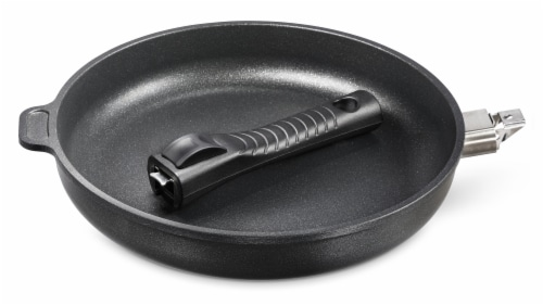 """Ozeri Professional Series 10"""" Hand Cast Ceramic Earth Fry Pan, Removable Handle, Made in DE Perspective: bottom"""