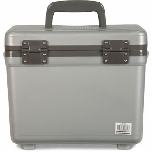 Engel 7.5-Quart EVA Gasket Seal Ice and DryBox Cooler with Carry Handles, Silver Perspective: bottom